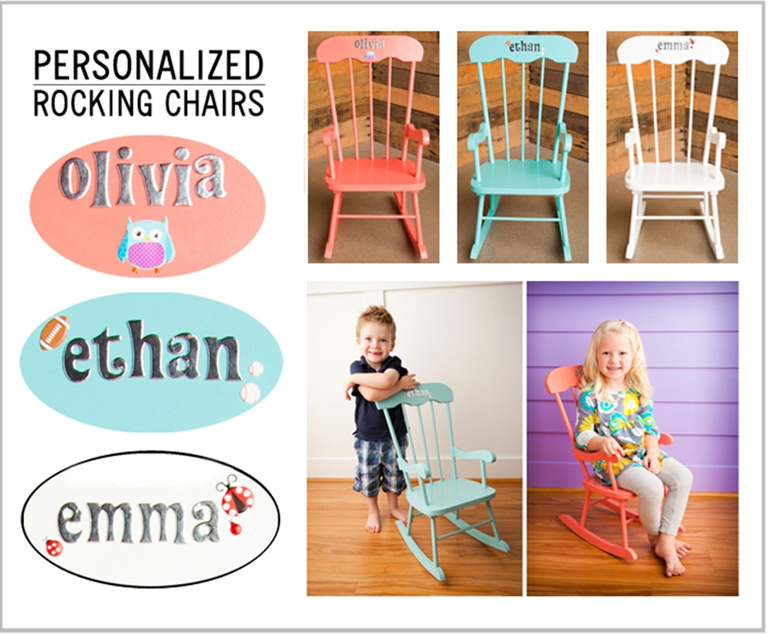 Children's Personalized Designer Rocking Chair – 3 Colors!  Jane