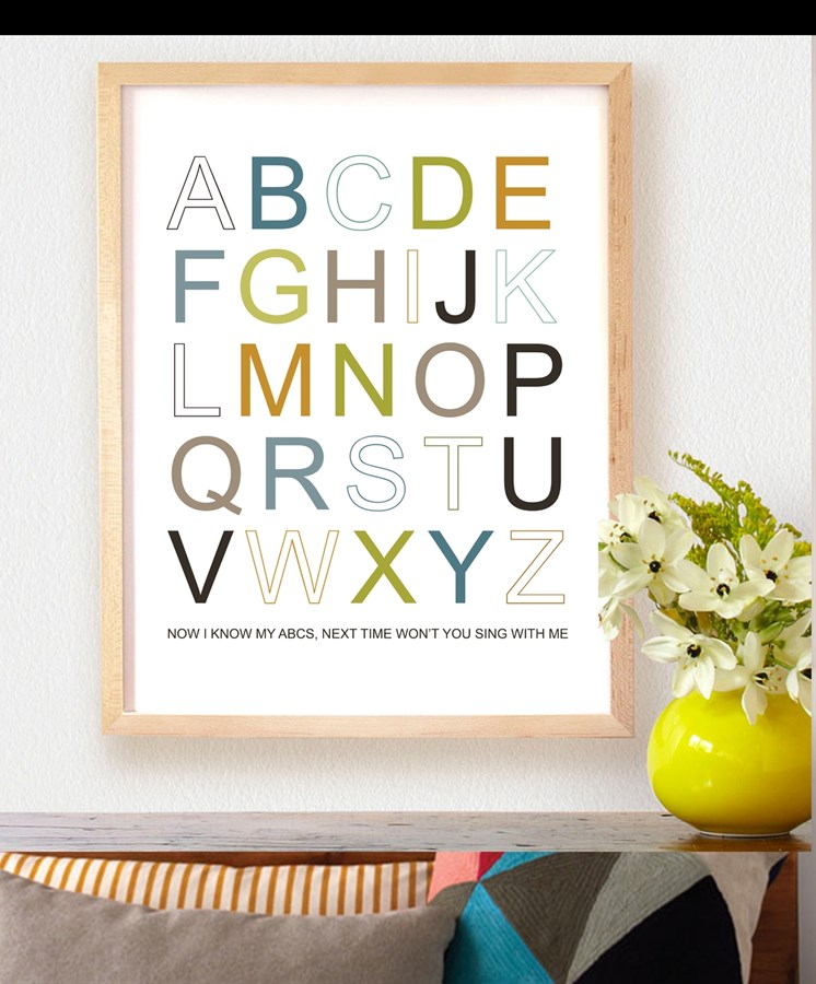 Fresh And Modern Typography 8x10 Prints Jane
