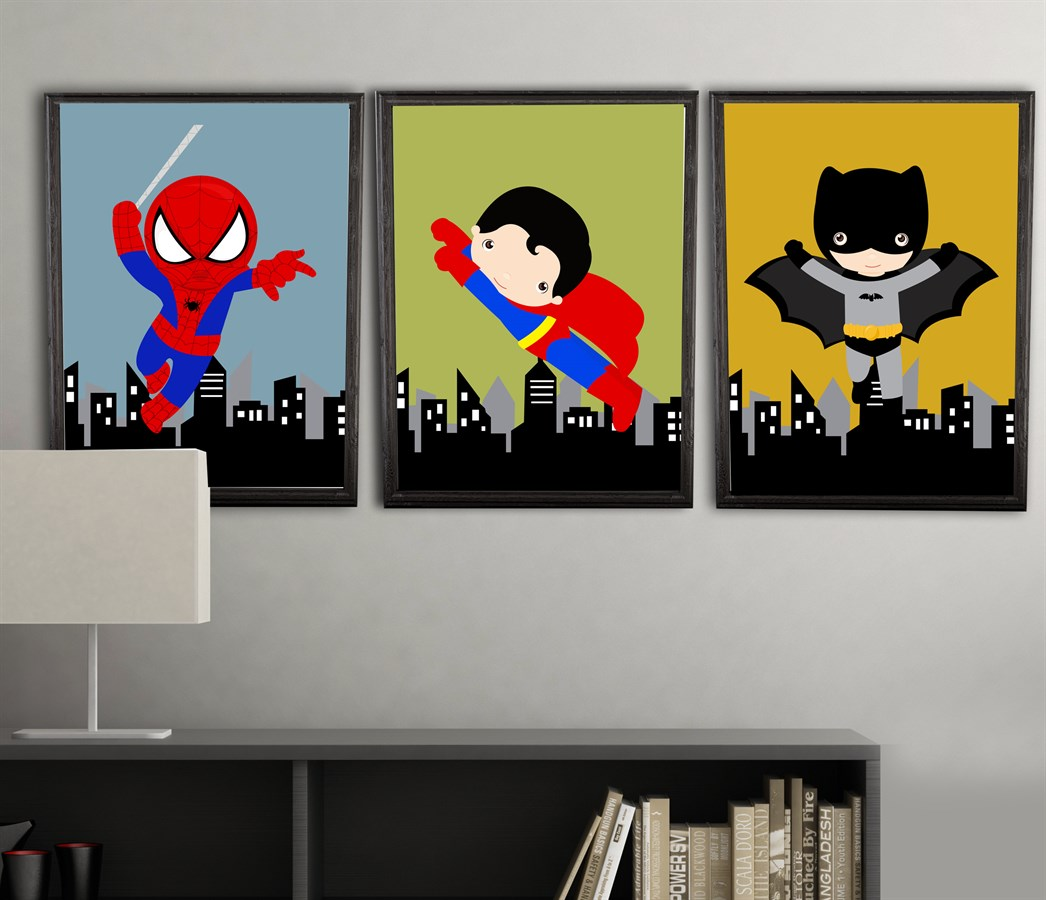 4 color customized superhero prints 8x10 inch prints jane for Chambre 8x10