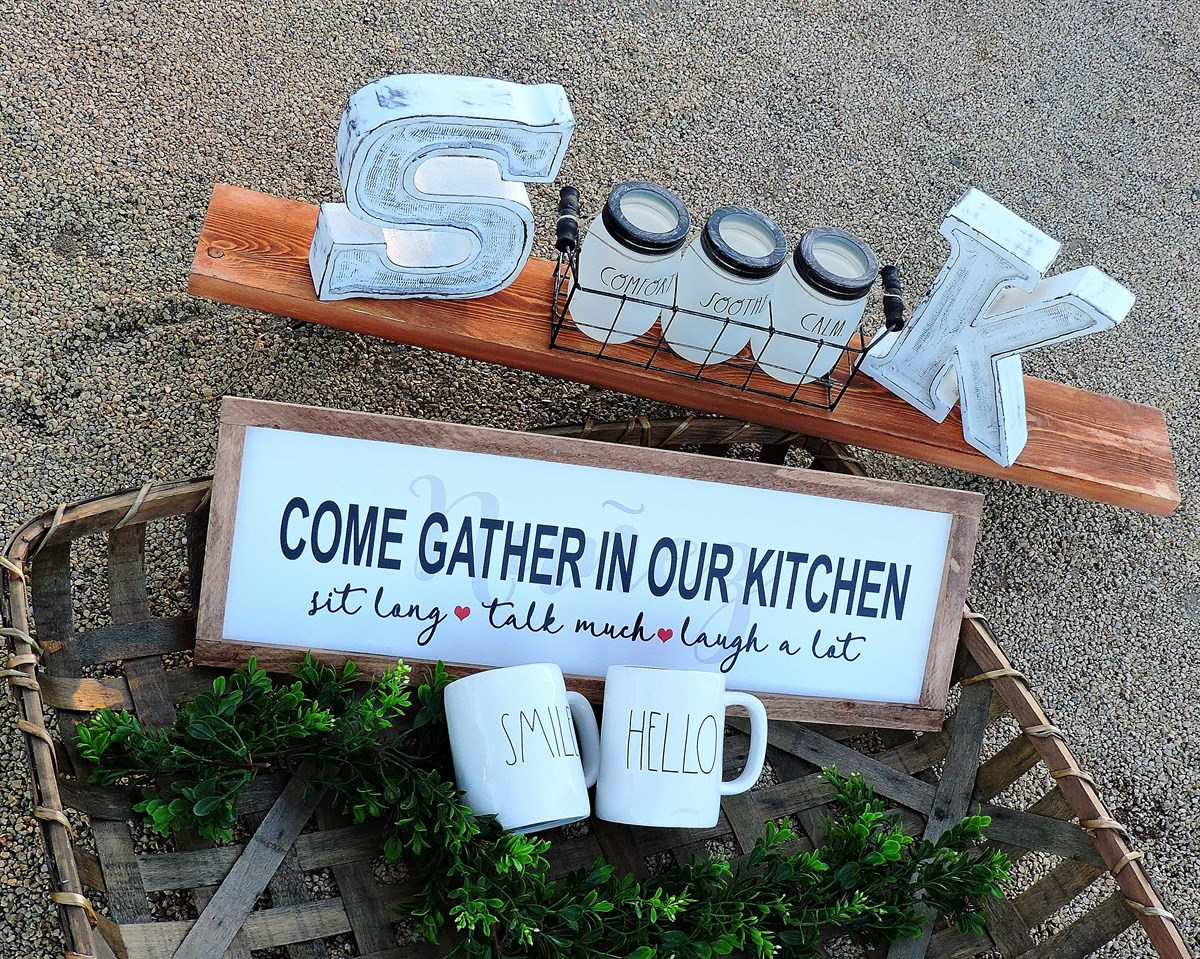 Come Gather In Our Kitchen Sign | Jane
