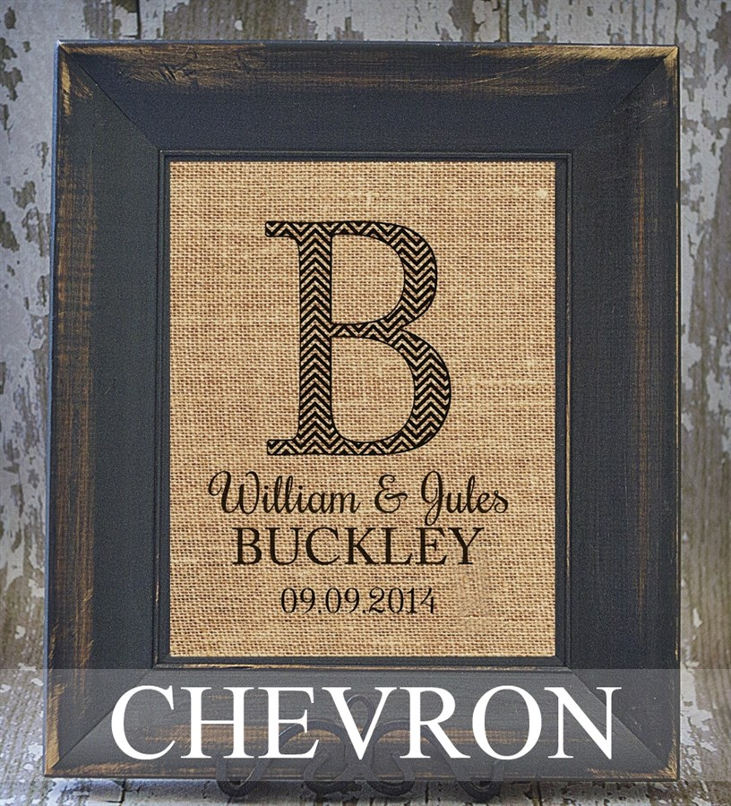 Rustic Burlap Wall Decor : Personalized rustic chic burlap wall decor designs to