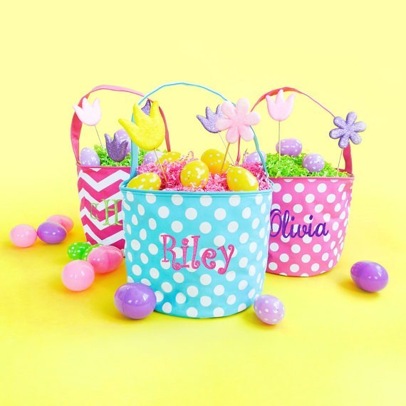 Personalized Easter/Toy Bin Buckets / 8 Options