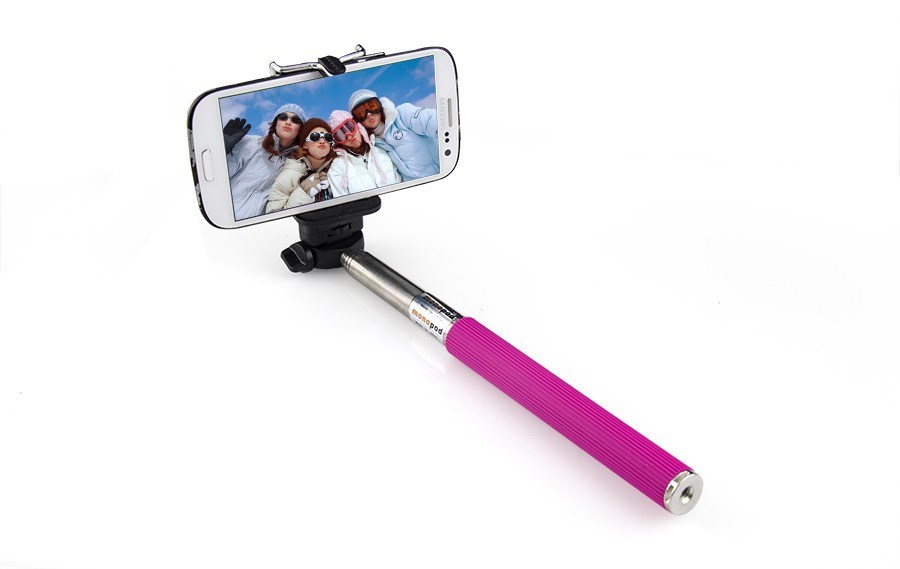 selfie stick available in three fun colors with bluetooth remote control jane. Black Bedroom Furniture Sets. Home Design Ideas