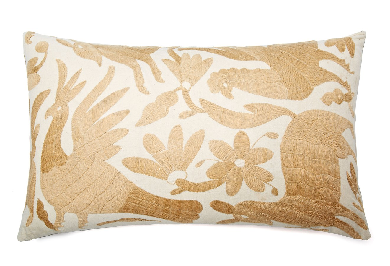 Embroidered animal pillow covers jane