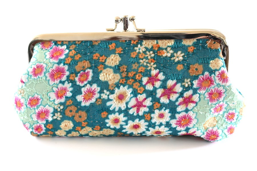 Vintage embroidered clutch colors jane
