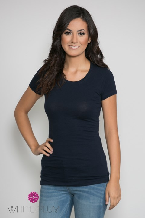 Crew Neck Long Layering Tees 8 Color Options Jane