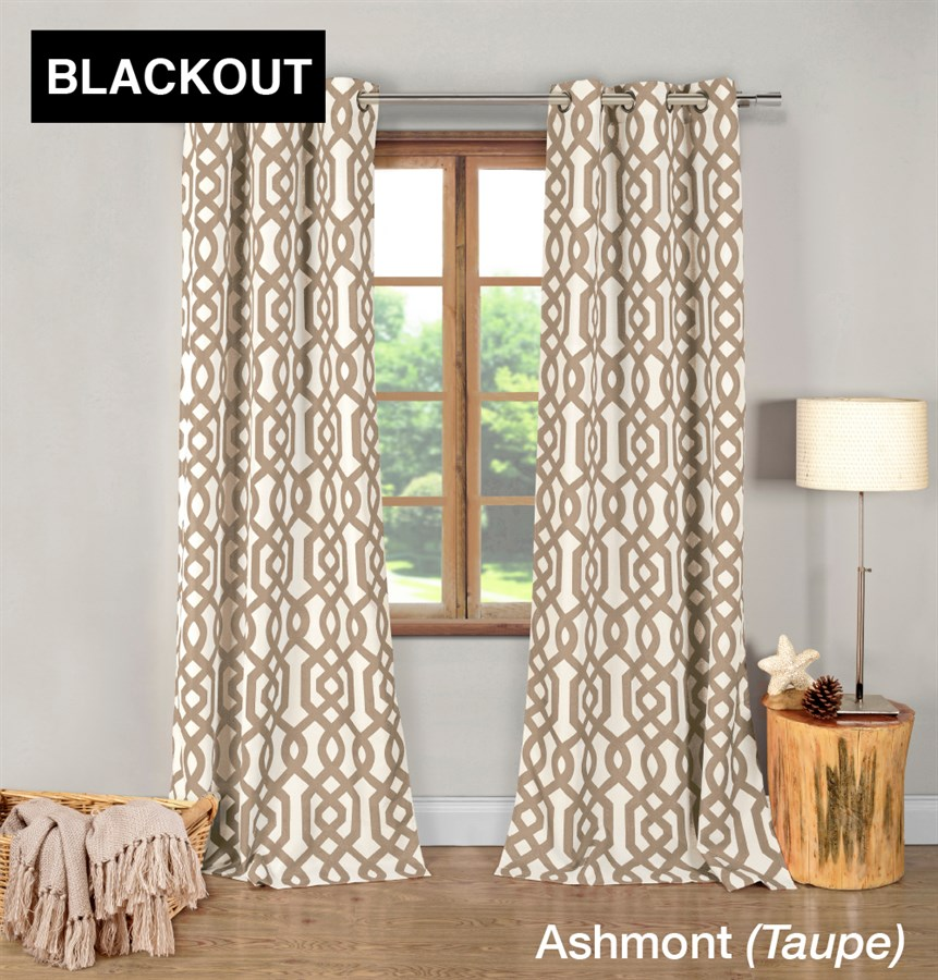 Trendy blackout geometric curtains set of 2 jane Trendy curtains
