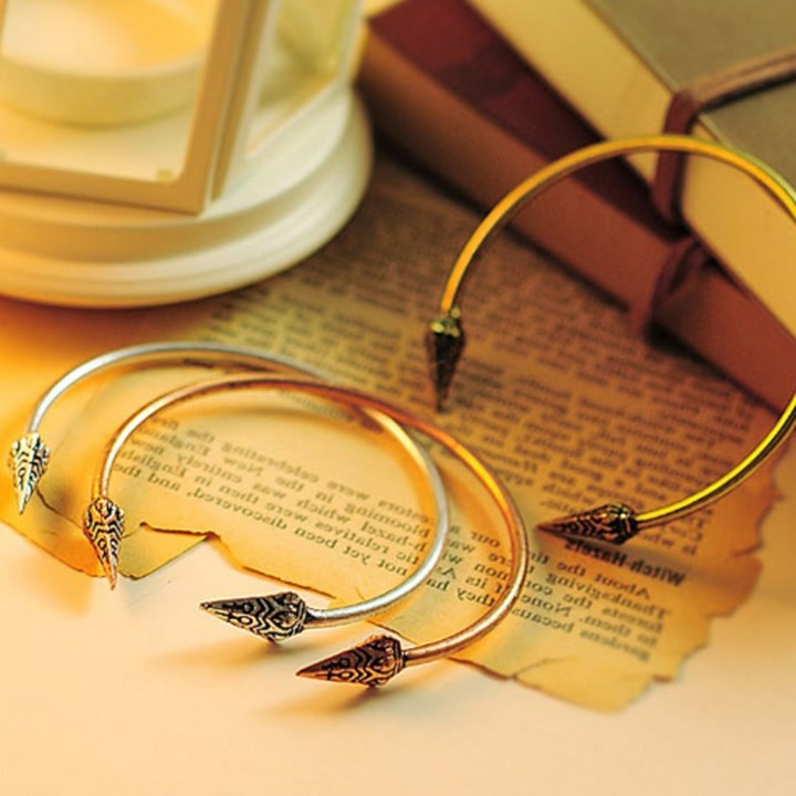 aztec spear stackable bangles 3 colors jane