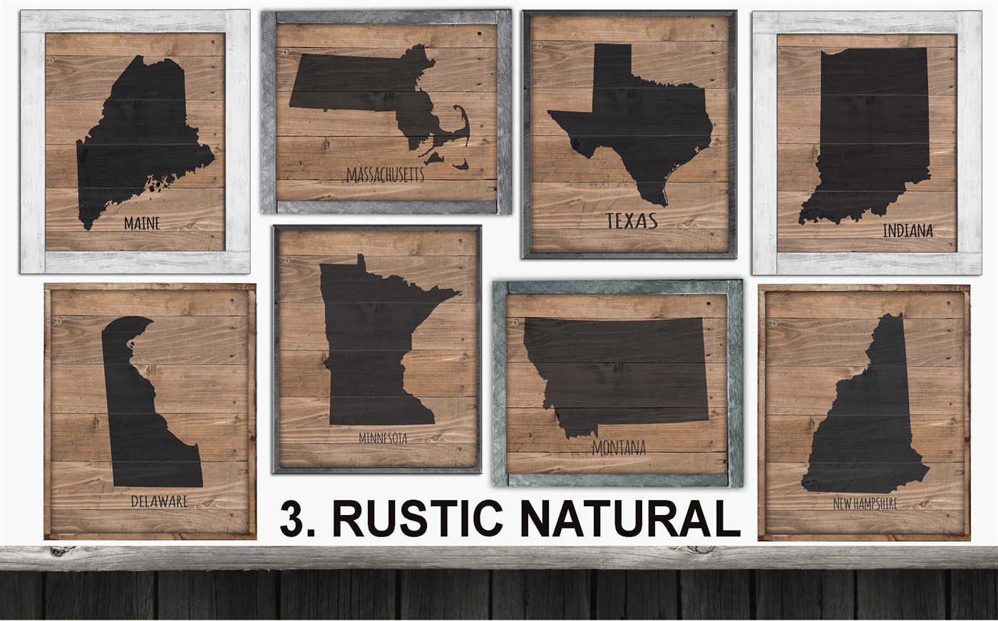 Rustic State Custom Prints