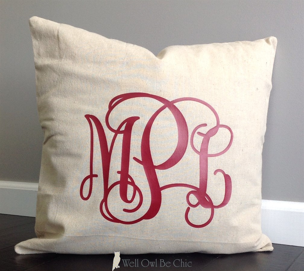 Monogrammed Throw Pillow Covers : 18