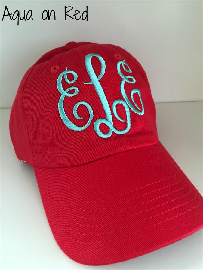 preppy monogrammed baseball caps 20 choices