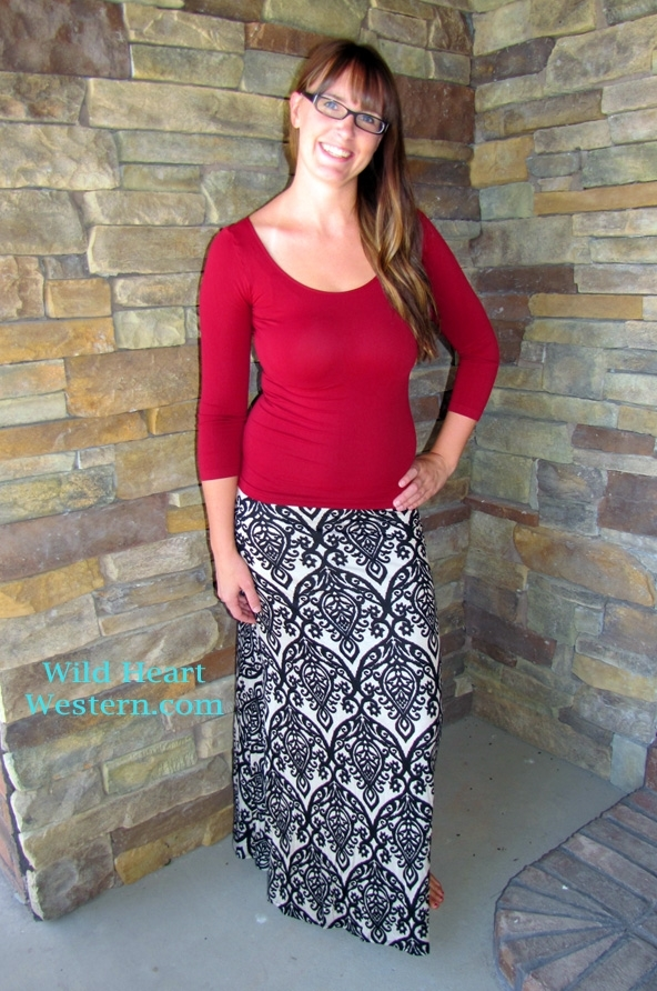 Adorable Damask Maxi Skirt in 4 Colors! : Jane