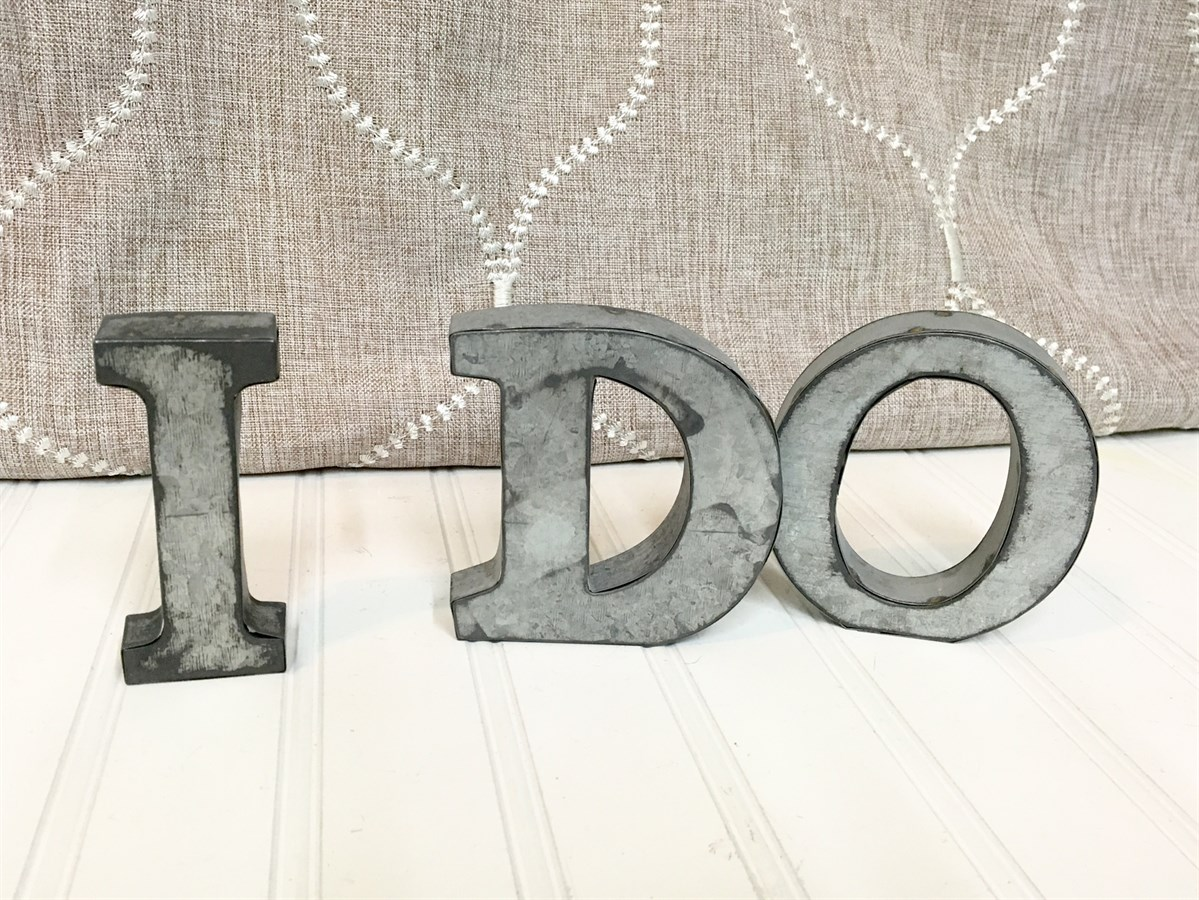 small metal letters rustic small metal letters 24901