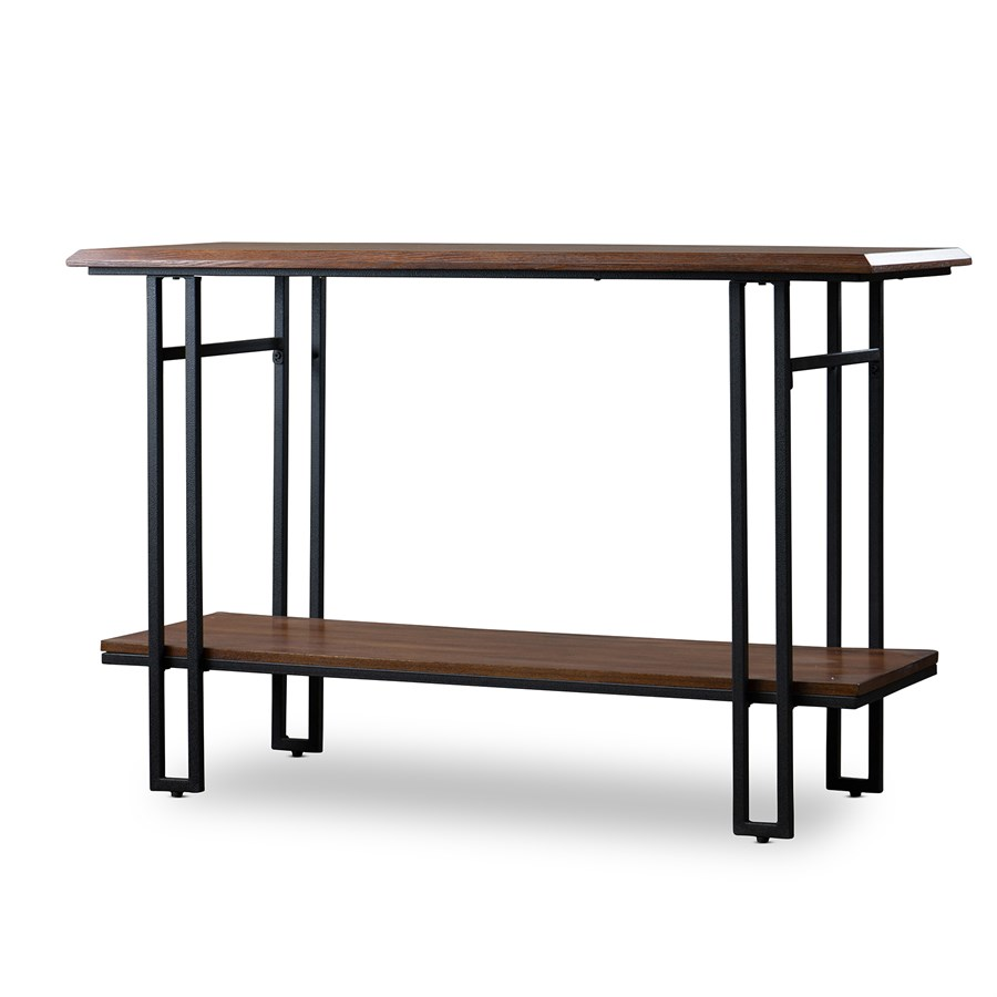 Free shipping wood metal console table jane for Wood and metal console table