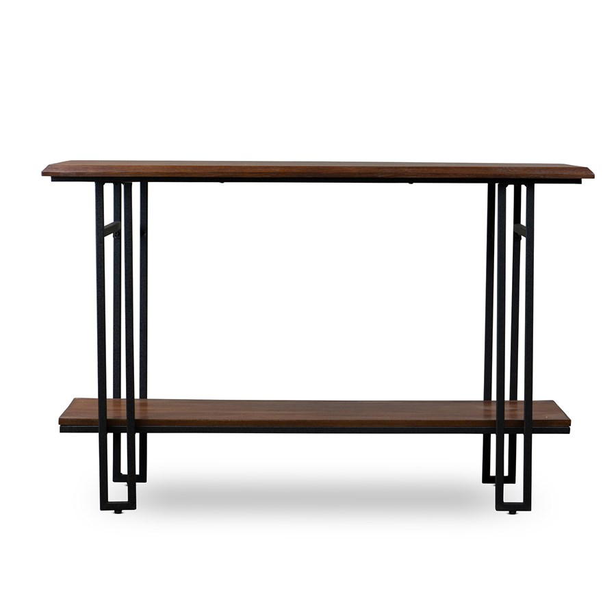Free shipping wood metal console table jane for Metal and wood console tables
