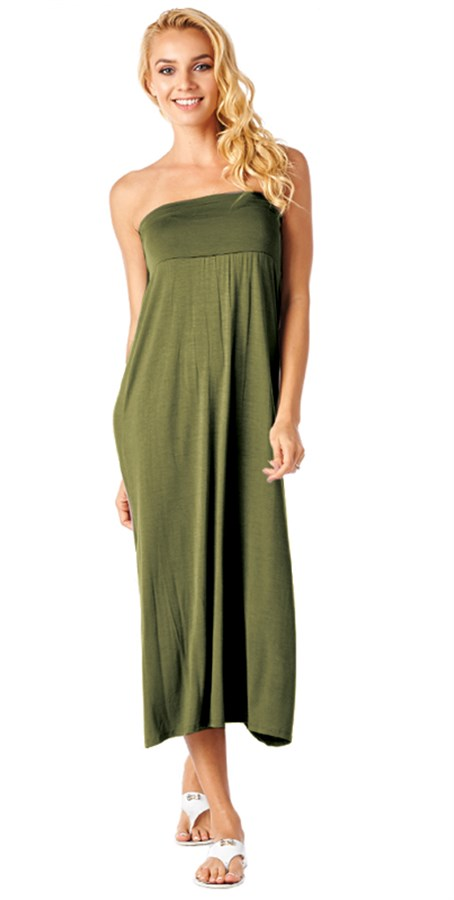 all in one convertible maxi skirt strapless dress