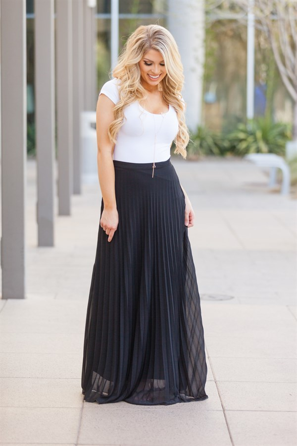 chiffon maxi skirt fully lined 4 colors