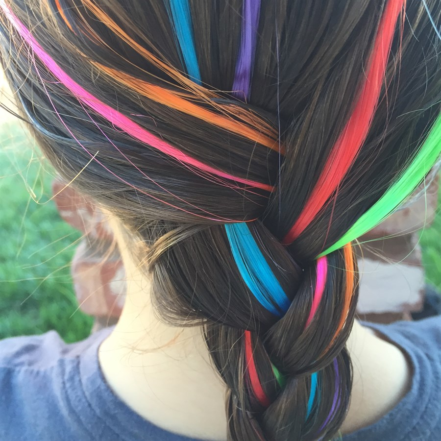 Different Colored Strands of Hair