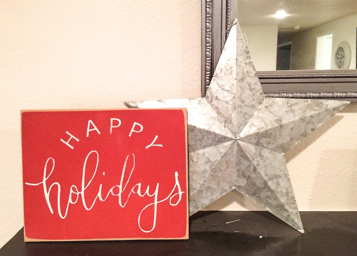 Christmas home decor signs distressed jane for Home bargains xmas decorations