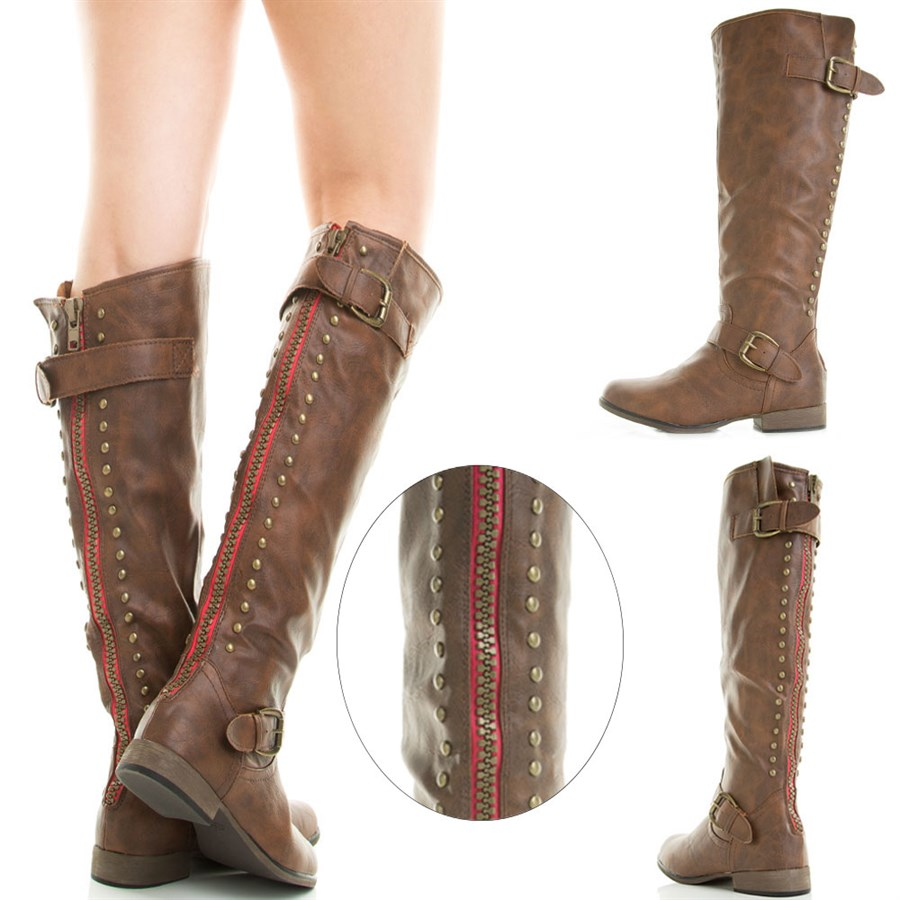 Designer Inspired Back Zipper Riding Boots -Teens to adults! | Jane
