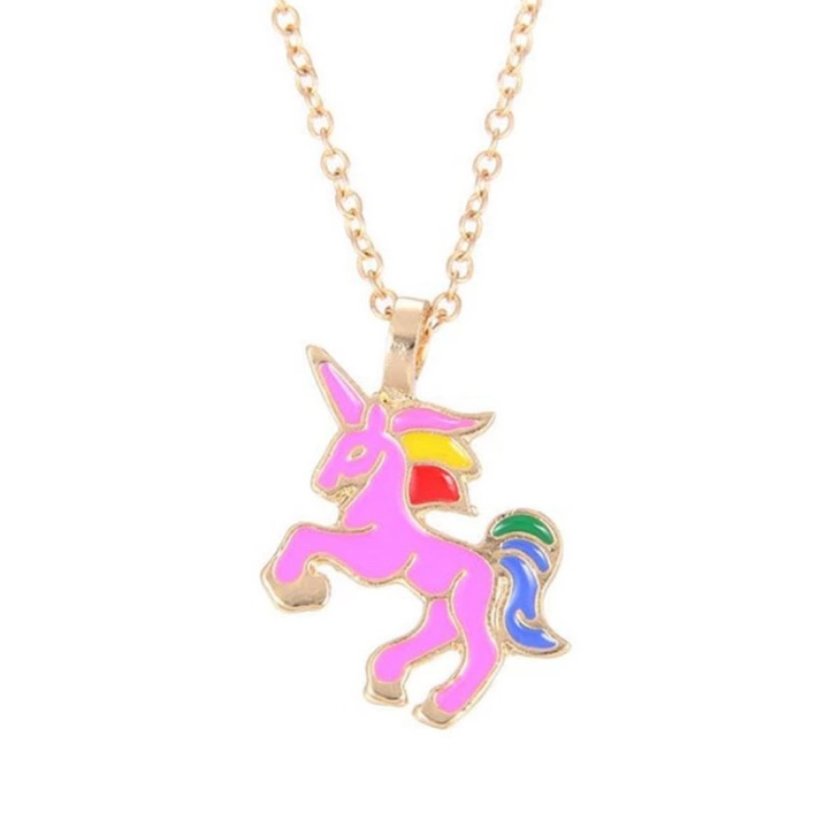 Girls Unicorn Pendant Necklace