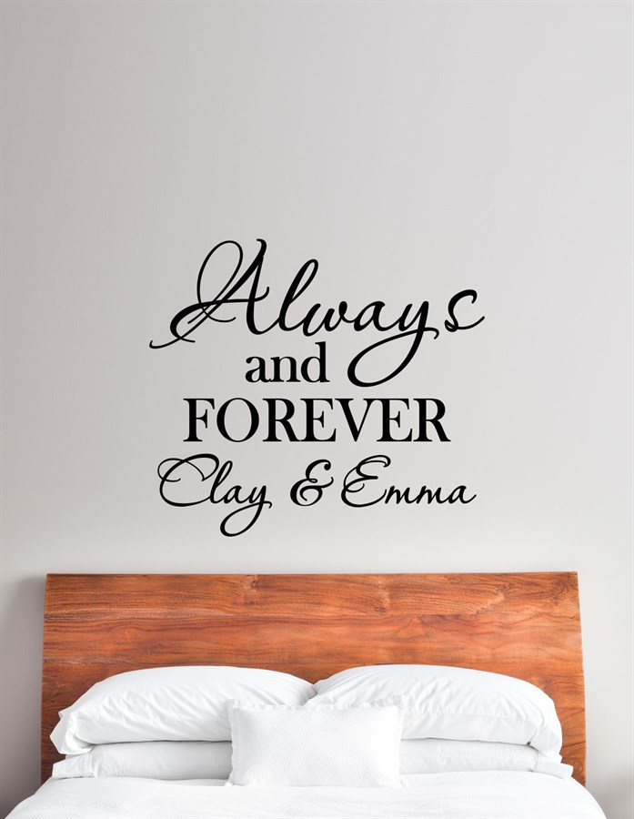 Personalized Romantic Vinyl Wall Art Decals Great Selection Jane - Custom vinyl wall decals saying