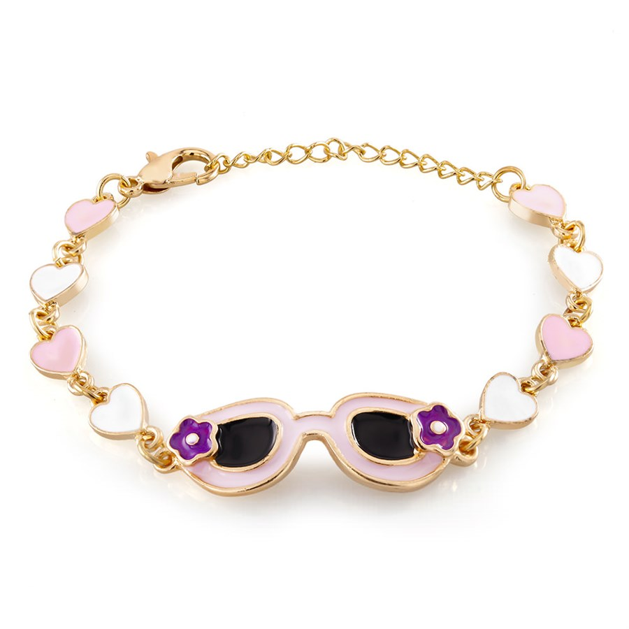 d29854f32 18kt gold plated; size is 6 inches with a 2 inch extension; Hypoallergenic;  choose from 8 cute styles!
