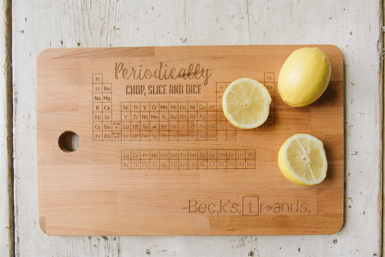 Periodic table chopping board personalized jane - Periodic table chopping board ...